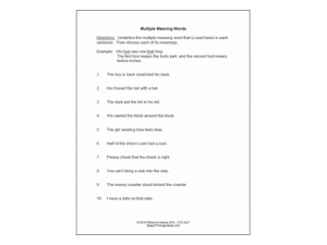 math worksheet : discussion multiple meaning words worksheets : Multiple Word Meaning Worksheets