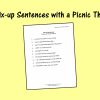 10 Fix-up Sentences with a Picnic Theme