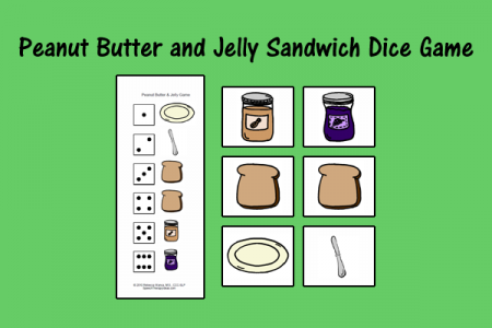 Peanut Butter and Jelly Sandwich Dice Game