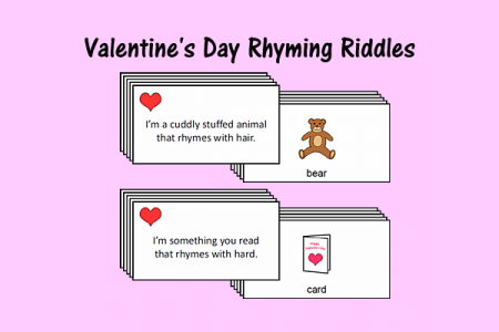 valentine 39 s day rhyming riddles speech therapy ideas. Black Bedroom Furniture Sets. Home Design Ideas