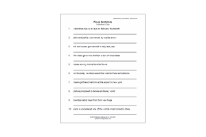 Language Therapy Worksheet - Valentines Fix-up Sentences