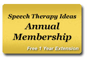 Speech Therapy Ideas Annual Membership - 1 Year Extension