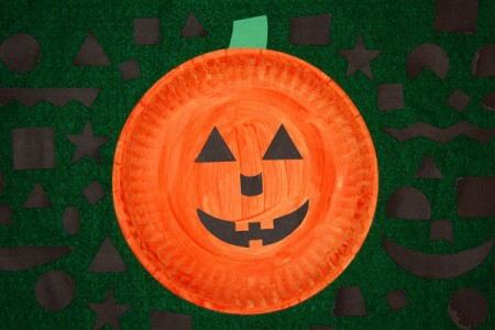 Paper Plate Jack-O-Lantern Craft Activity