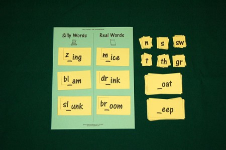 Word Families - Making Silly and Real Words