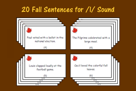Fall Sentences for /l/ Sound