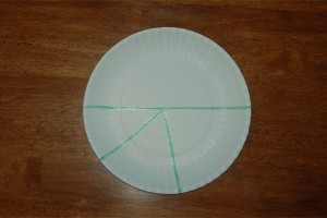 Paper Plate Christmas Tree Cut Lines