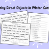 Combining Direct Objects in Winter Sentences