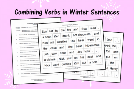 combining verbs in winter sentences speech therapy ideas. Black Bedroom Furniture Sets. Home Design Ideas