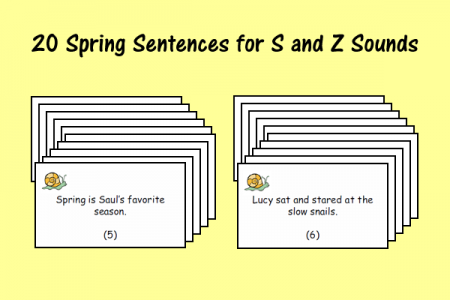 20 Spring Sentences for S and Z Sounds