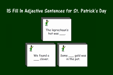 15 Fill In Adjective Sentences for St. Patrick's Day