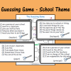 Guessing Game - School Theme