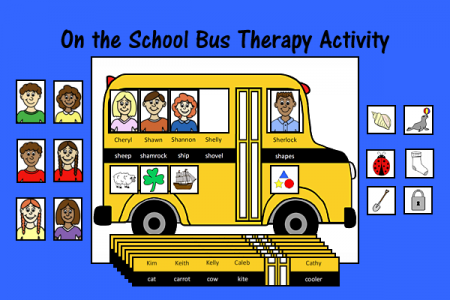 On the School Bus Speech and Language Therapy Activity