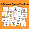 Halloween Speech Sound Cards