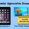 Member Appreciation Giveaway - iPad Air 2, Visa Gift Card, Annual Membership
