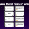 Space Themed Vocabulary Cards