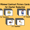 Mimimal Contrast Picture Cards for Cluster Reduction