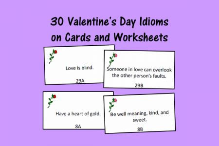 valentine 39 s day figurative language cards and worksheets speech therapy ideas. Black Bedroom Furniture Sets. Home Design Ideas
