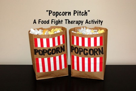 Popcorn Pitch - A Food Fight Therapy Activity
