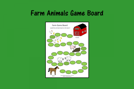 Farm Animals Game Board