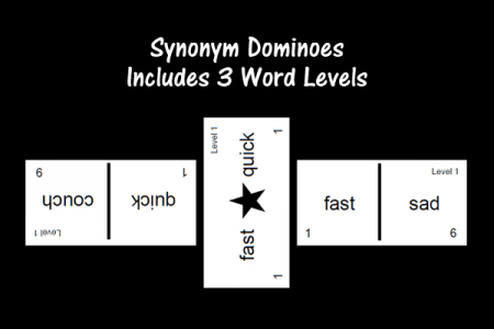 Synonym Dominoes - Includes 3 Word Levels