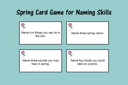 Spring Card Game for Naming Skills