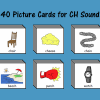 40 Picture Cards for CH Sound