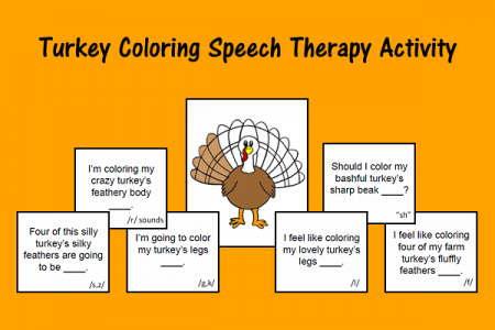 Turkey Coloring Speech Therapy Activity