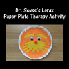 Dr. Seuss's Lorax Paper Plate Therapy Activity