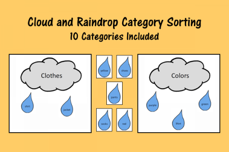 Cloud and Raindrop Category Sorting