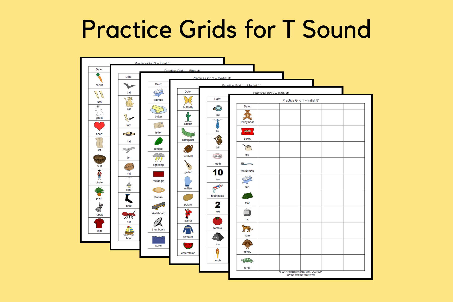 Practice Grids for T Sound