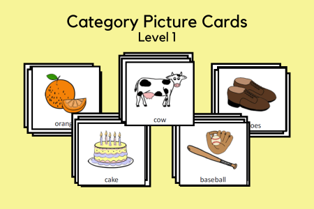 Category Picture Cards - Level 1