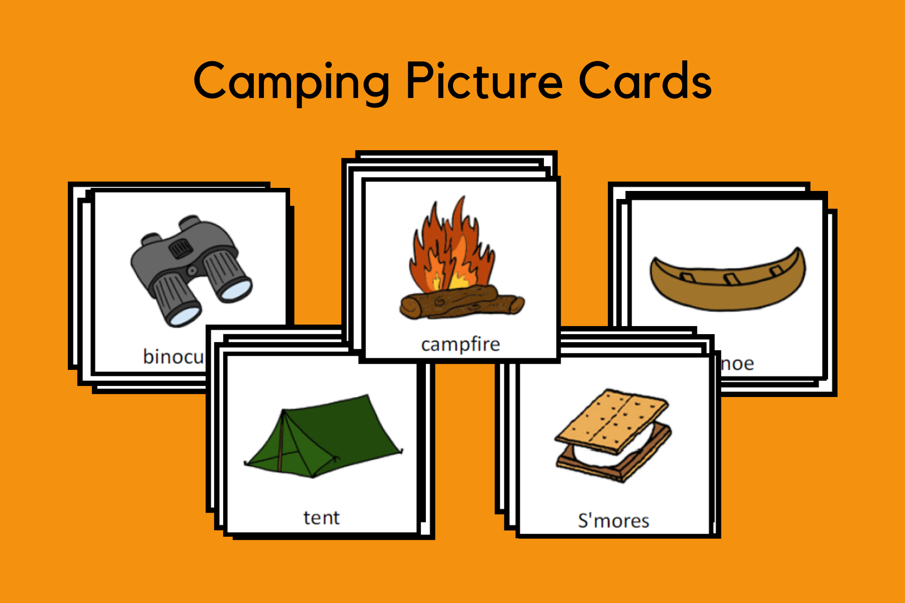 Camping Picture Cards