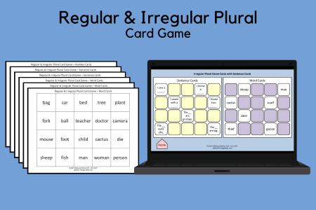 Regular & Irregular Plural Card Game