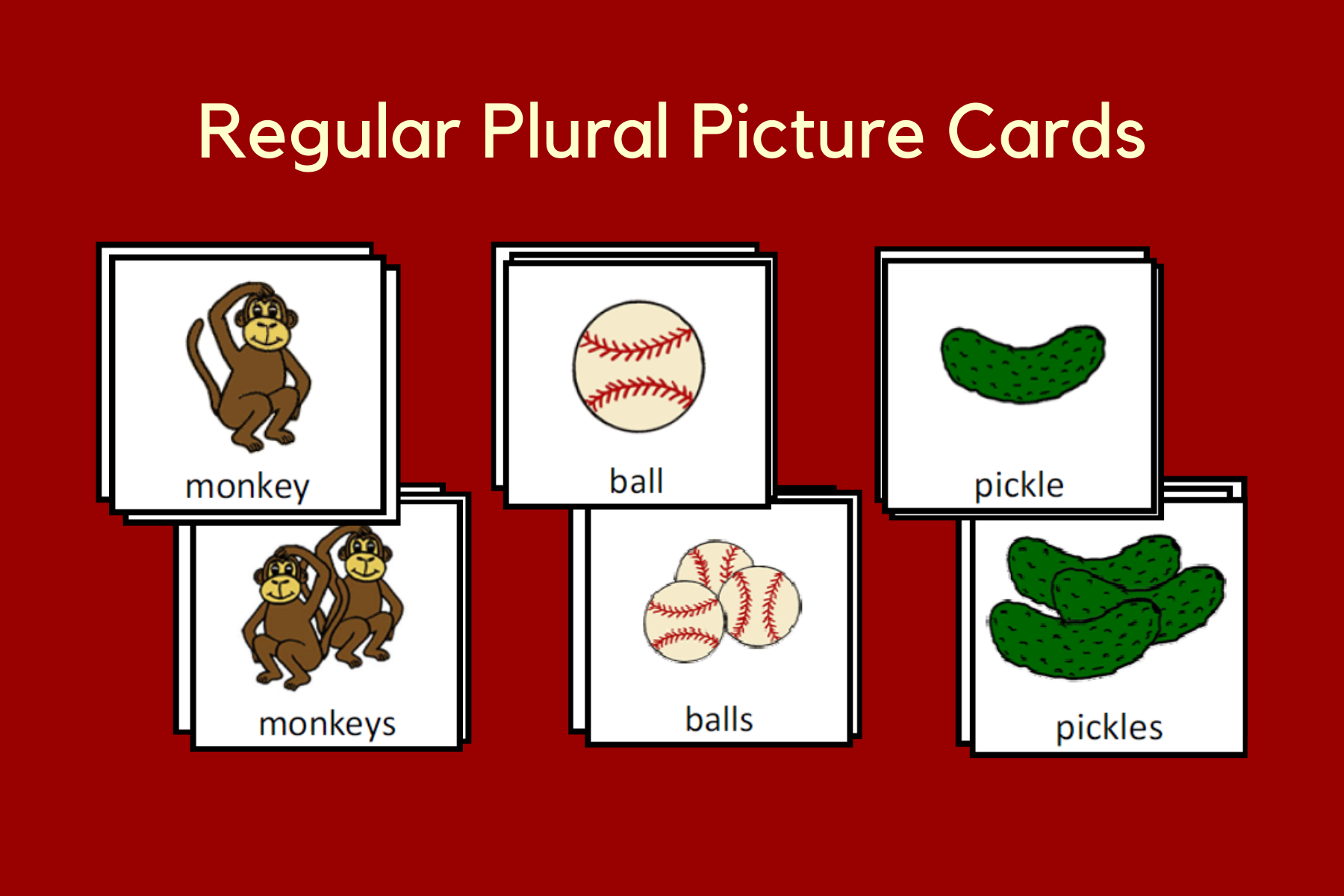 Regular Plural Picture Cards