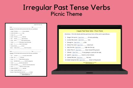 Irregular Past Tense Verbs - Picnic Theme