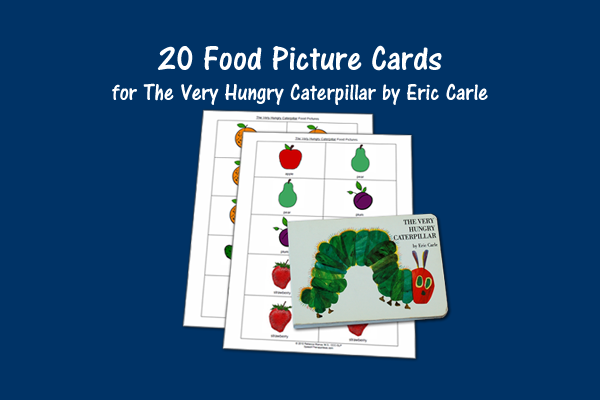 Food Picture Cards for The Very Hungry Caterpillar