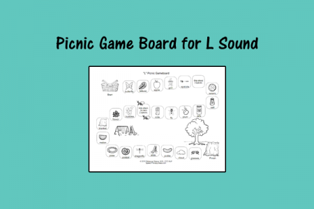 Picnic Game Board for L Sound