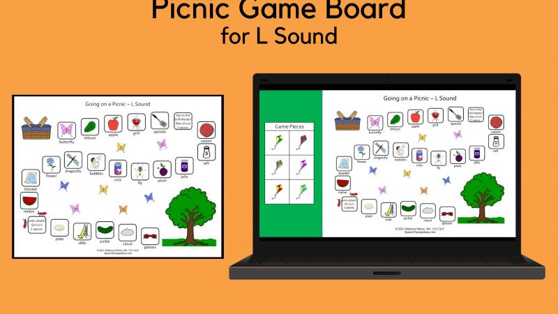 PIcnic Game Board – L Sound