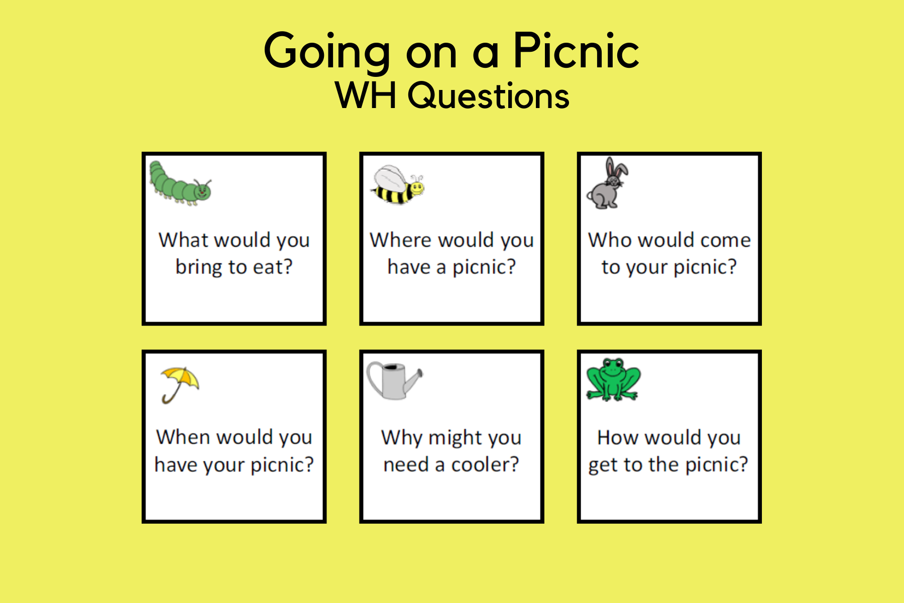Going on a Picnic WH Questions