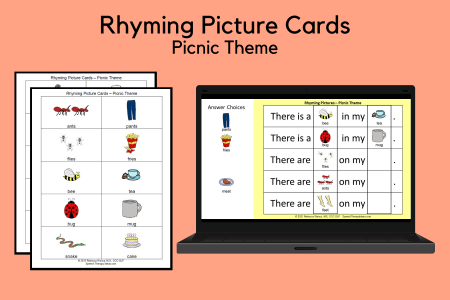 Rhyming Picture Cards - Picnic Theme