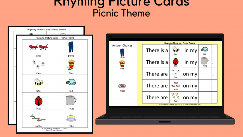 Rhyming Picture Cards – Picnic Theme