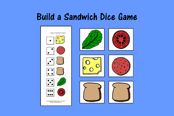 Build A Sandwich Dice Game