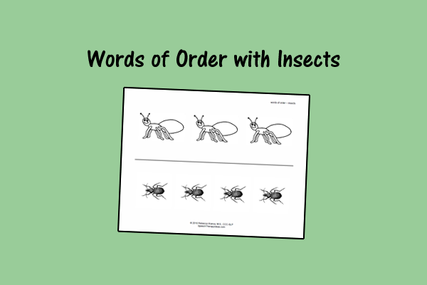 Words of Order with Insects