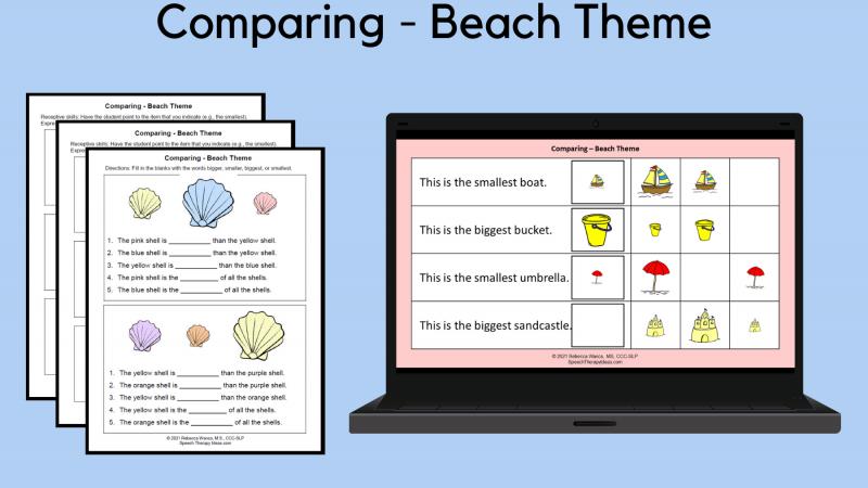 Comparing – Beach Theme