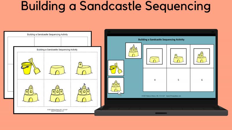 Building A Sandcastle Sequencing Activity