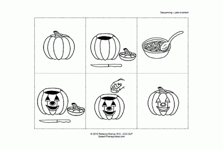 Pumpkin Carving Sequencing Activity