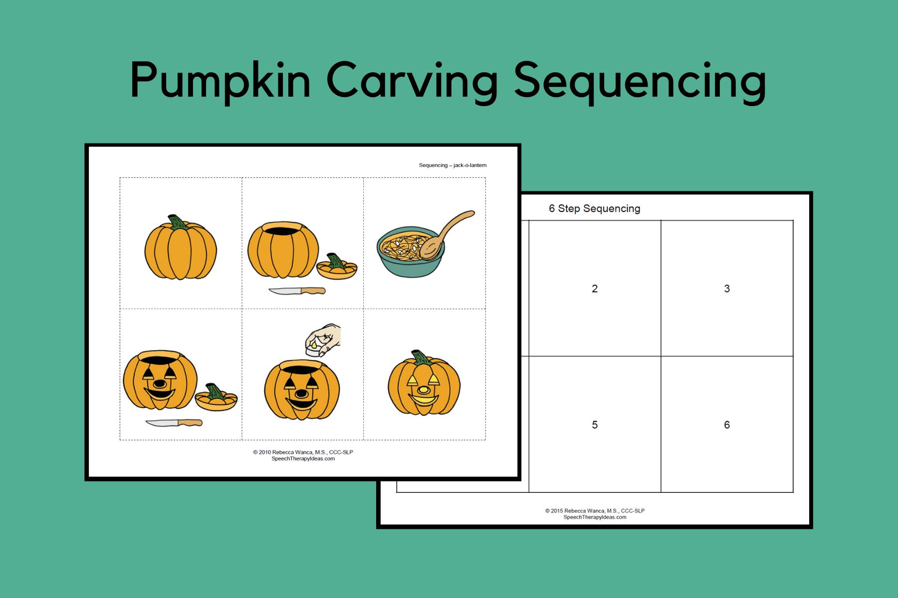 Pumpkin Carving Sequencing Activity