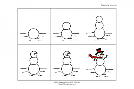Snowman Building Sequencing Activity