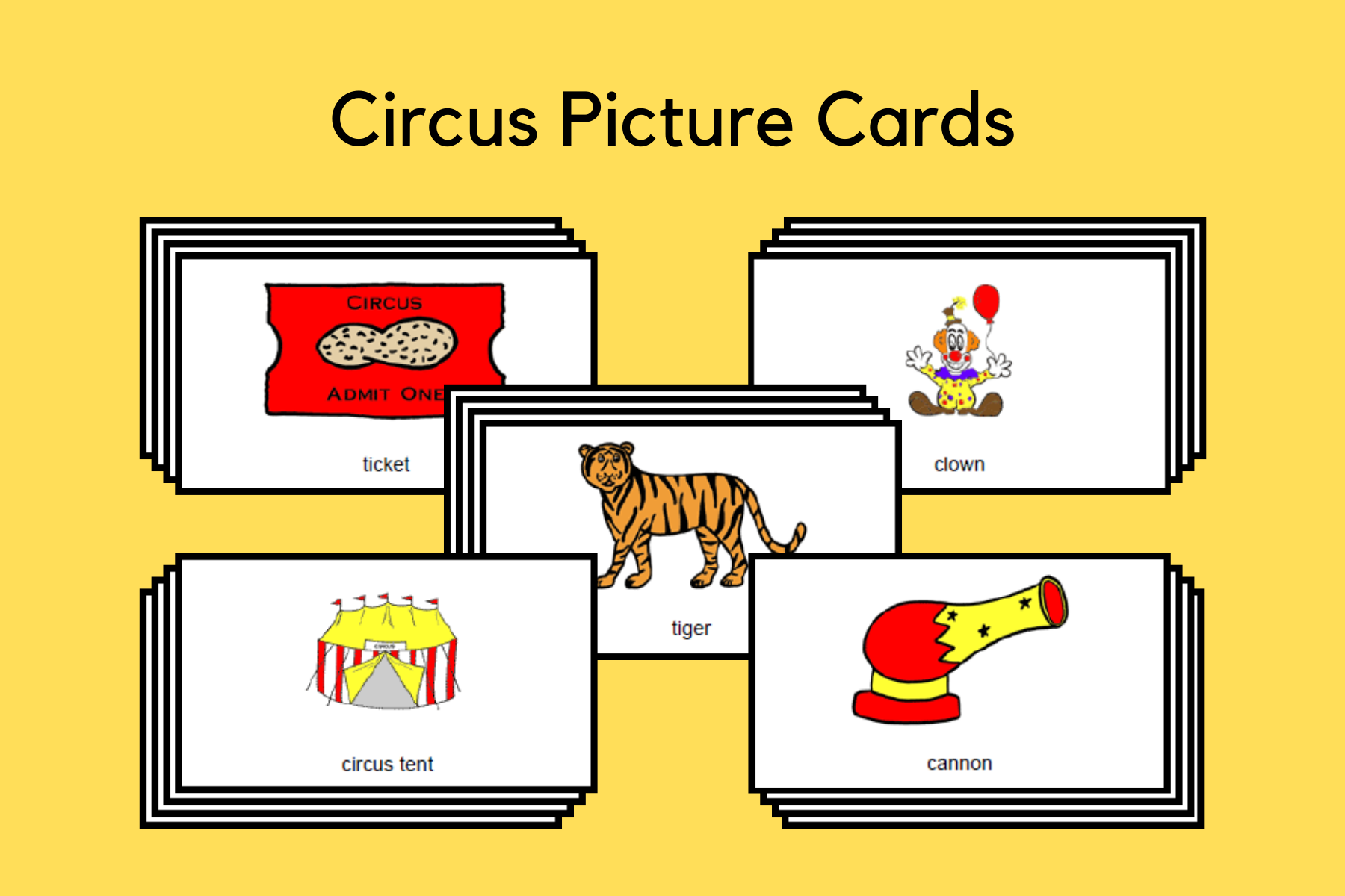 Circus Picture Cards