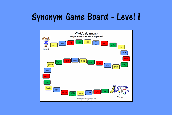 Synonym Game Board – Level 1